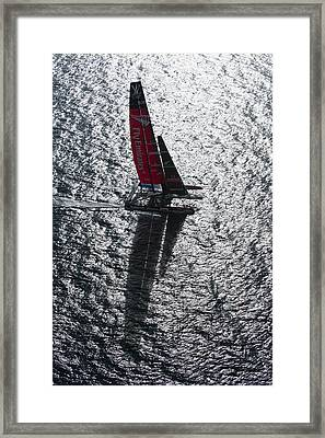 Shadow Sailing Framed Print by Chris Cameron