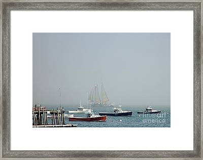 Shadow Ship Framed Print by Christopher Mace