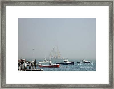 Shadow Ship Framed Print