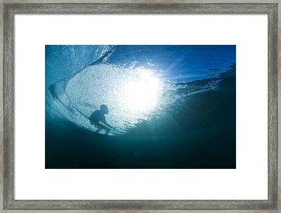 Shadow Surfer Framed Print by Sean Davey
