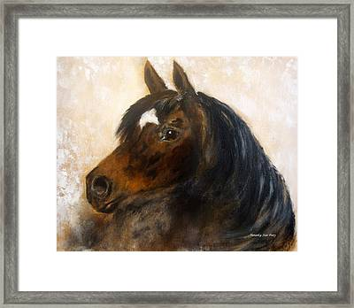Framed Print featuring the painting Shadow by Barbie Batson