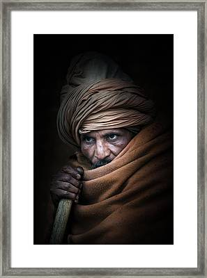 Shadow Walker Framed Print by Brad Grove