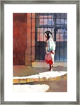 Shadow Woman Framed Print by Kris Parins