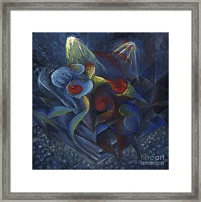 Shadowboxing Framed Print by Tiffany Davis-Rustam