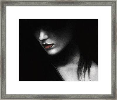 Shadowed In My Mind Framed Print by Pat Erickson