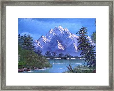 Shadowed Mountain Lake Framed Print