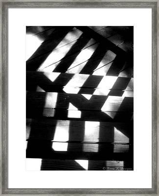 Shadowed Steps Framed Print by Terri K Designs