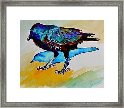 Shadowland Visitor Framed Print by Beverley Harper Tinsley