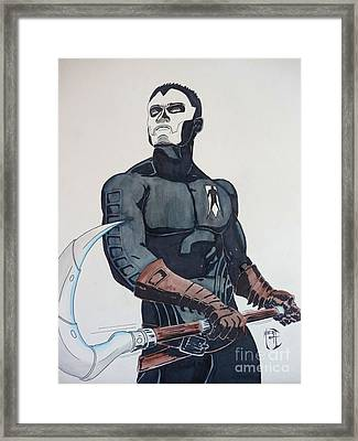 Shadowman II Framed Print