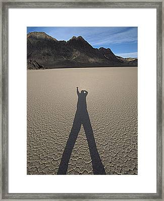 Framed Print featuring the photograph Shadowman by Joe Schofield