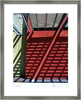 Shadows 10 Framed Print
