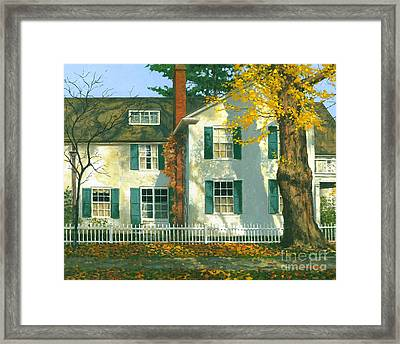 Framed Print featuring the painting Shadows 24 X 30 by Michael Swanson