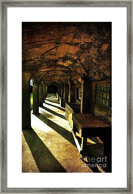 Shadows And Arches I Framed Print by Debra Fedchin