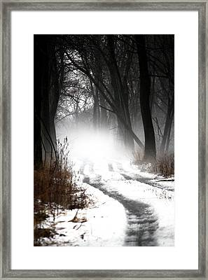 Shadows And Mist At Mentha Framed Print by Penny Hunt
