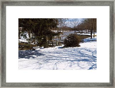 Shadows And Snow - Winter Landscape Framed Print by Barry Jones