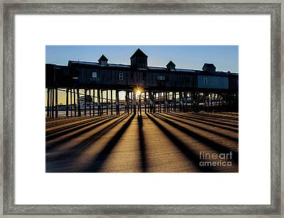Shadows And Sunset Framed Print by Joe Faragalli