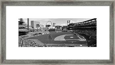 Shadows At Busch B-w Framed Print