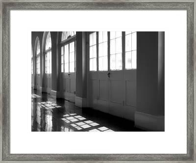 Shadows At The Cabildo Framed Print by James Stough