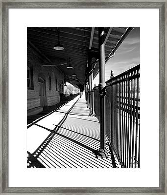 Framed Print featuring the photograph Shadows At The Station by Denise Beverly