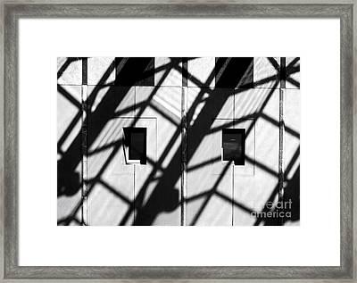 Shadows Canberra Framed Print by Steven Ralser