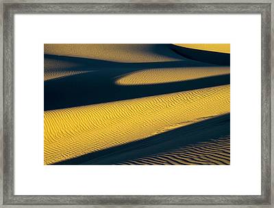 Shadows Deepen On A Summer Evening Framed Print by Robert L. Potts