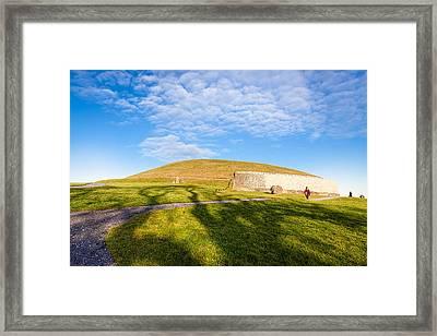 Shadows Fall On Newgrange In Ireland Framed Print by Mark E Tisdale