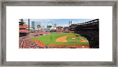 Shadows Fall On Post-season Busch Framed Print