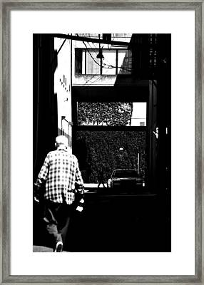 Shadows In Crime  Framed Print by Jerry Cordeiro