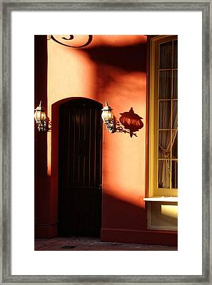 Shadows In The French Quarter Framed Print