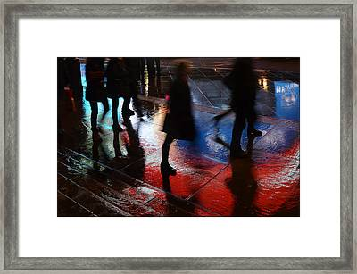 Shadows In The Nigth Framed Print by Julia Moral