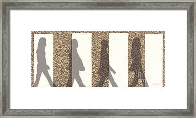 Shadows Of Abbey Road Framed Print by Cristophers Dream Artistry