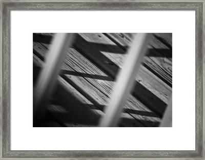 Shadows Of Carpentry Framed Print by Christi Kraft