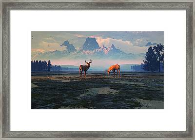 Shadows Of Creation Framed Print by Dieter Carlton
