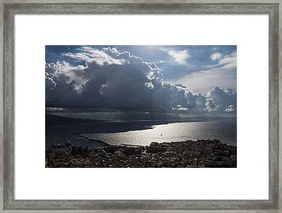 Framed Print featuring the photograph Shadows Of Clouds by Georgia Mizuleva