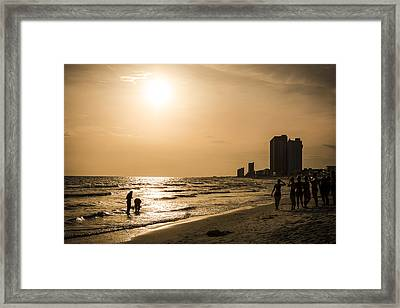 Shadows Of The Beach Framed Print by David Morefield