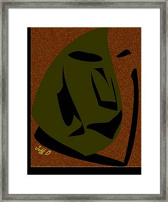 Shadows Of The Mind Framed Print by Jeffrey Ocansey