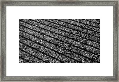 Shadows On Sidewalk Framed Print by John Rossman