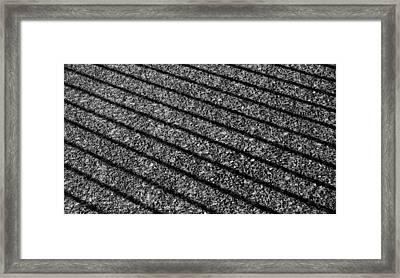 Shadows On Sidewalk Framed Print