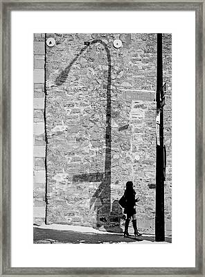 Shadows On St-laurent Framed Print by Valerie Rosen