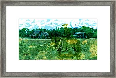 Shadows On The Land Framed Print by Seth Weaver