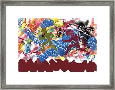Shadows On The Run Framed Print