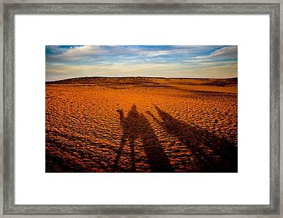 Shadows On The Sahara Framed Print by Mark E Tisdale