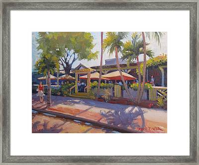 Shadows On Tommy Bahamas Framed Print by Dianne Panarelli Miller