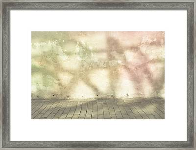 Shadows On Wall Framed Print