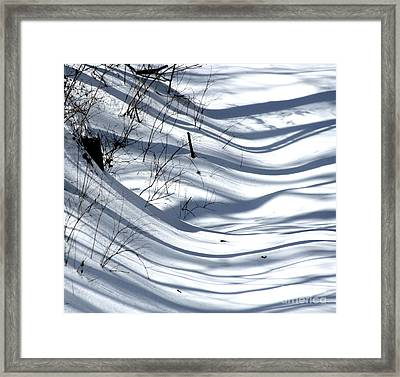 Shadows Reach Framed Print