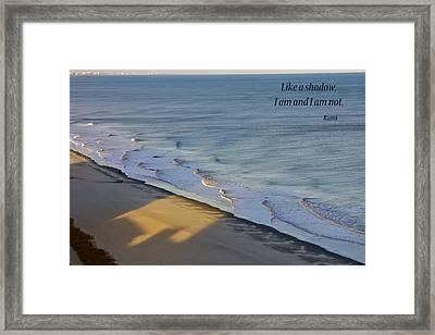 Shadows Framed Print by Rhonda McDougall