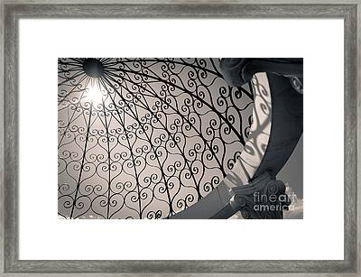 Framed Print featuring the photograph Shadows Through The Gazebo by Mark David Zahn Photography