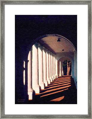 Shadows University Of Virginia Framed Print by Spyder Webb