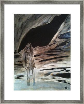 Shadows Will Rise And Face The Wind Framed Print by Nicla Rossini