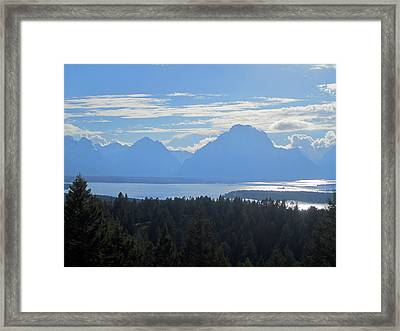 Shadowy Mountains Framed Print
